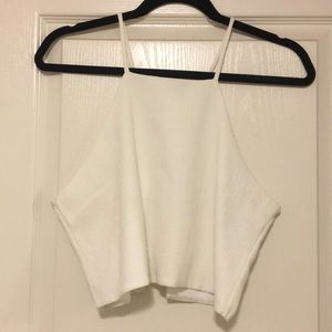 White crop top w/ super cute open back